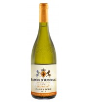 Wine Baron d'Arignac Muscat wine is white semi-sweet 0.75 l