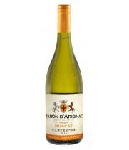 Wine Baron d'Arignac Muscat wine is white semi-sweet 0.75 l