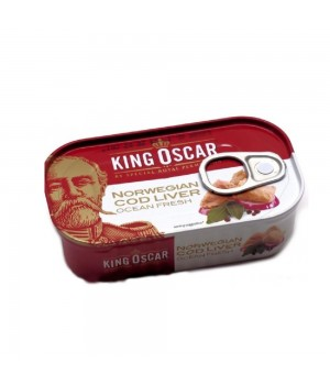 Cod liver in own juice King Oscar, 121g