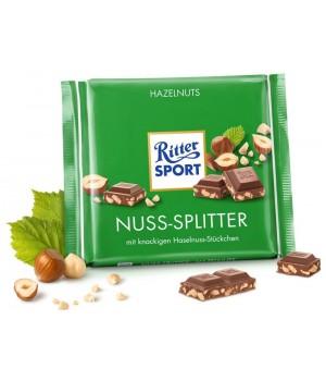 Ritter Sport chocolate milk with hazelnut, 100g