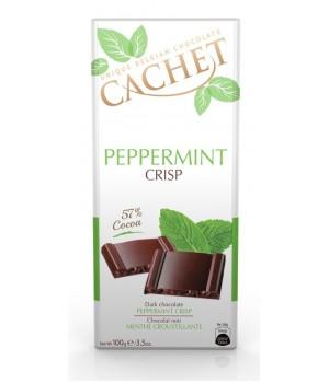 Chocolate Cachet Peppermint Crisp 57%, 100g