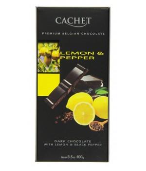 Chocolate Cachet Lemon & Pepper 57%, 100g