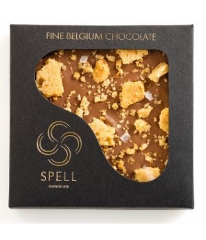 Chocolate with caramel salad and hazelnut stove Spell, 120 g