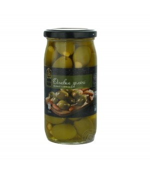 Green olives Fine Food pitted with almonds 350g