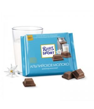 Chocolate Ritter Sport Milk Alpine 100g