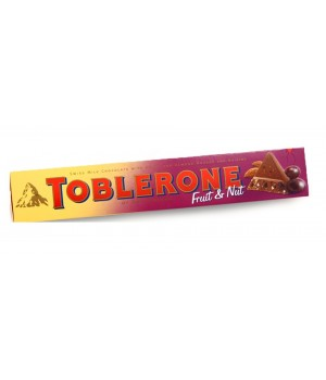 Milk chocolate Toblerone with raisins and almonds, 100g