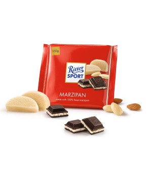 Chocolate Ritter Sport marzipan stuffed, 100g