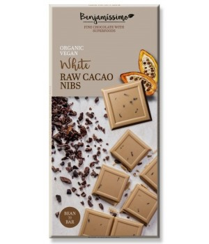 Vegan chocolate Benjamissimo with cacao nibs 70g