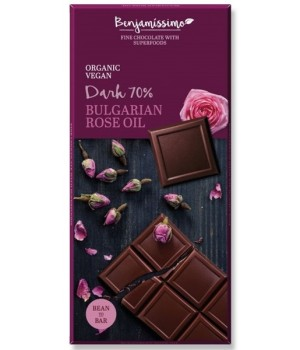 Vegan chocolate Benjamissimo Dark Rose Oil 70g