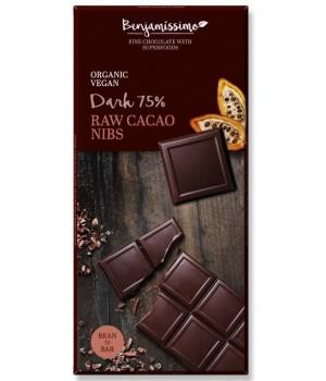 Vegan chocolate Benjamissimo Dark Raw Cacao Nibs 70g