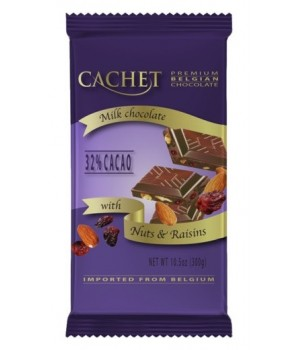 Chocolate Cachet with almonds and raisins 300g