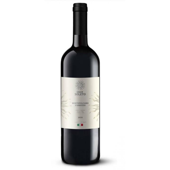 Вино Gran Soleto Montepulciano d'Abruzzo черв. сухе 0.75 л