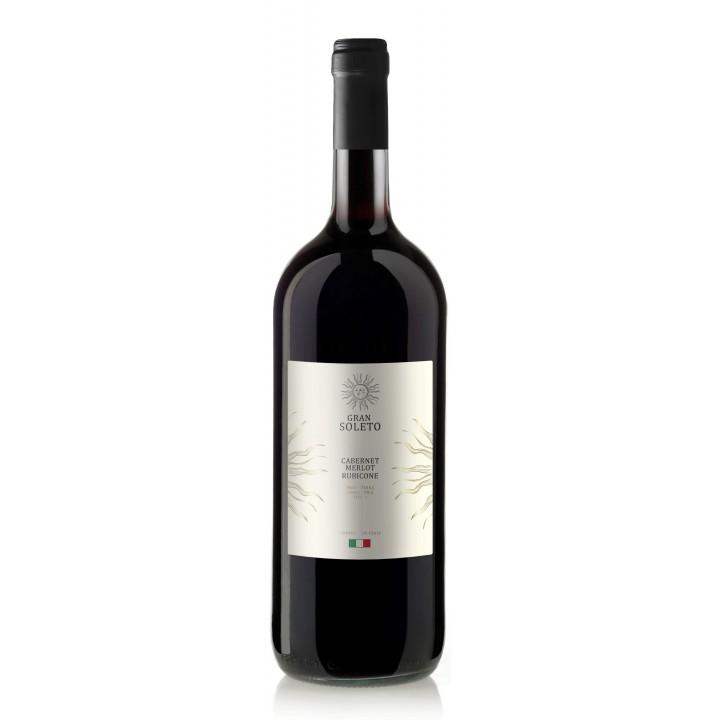 Вино Gran Soleto Cabernet-Merlo Rubicone червоне сухе 1.5 л