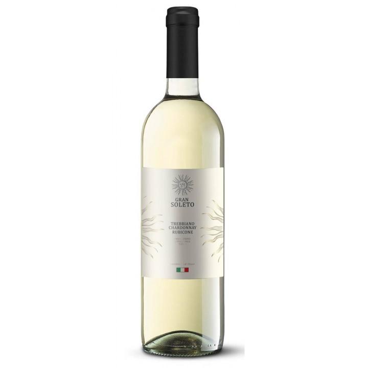 Вино Gran Soleto Trebbiano Chardonnay Rubicone біле сухе 0,75 л