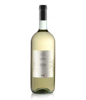 Вино Gran Soleto Trebbiano Chardonnay Rubicone біле сухе 1.5 л