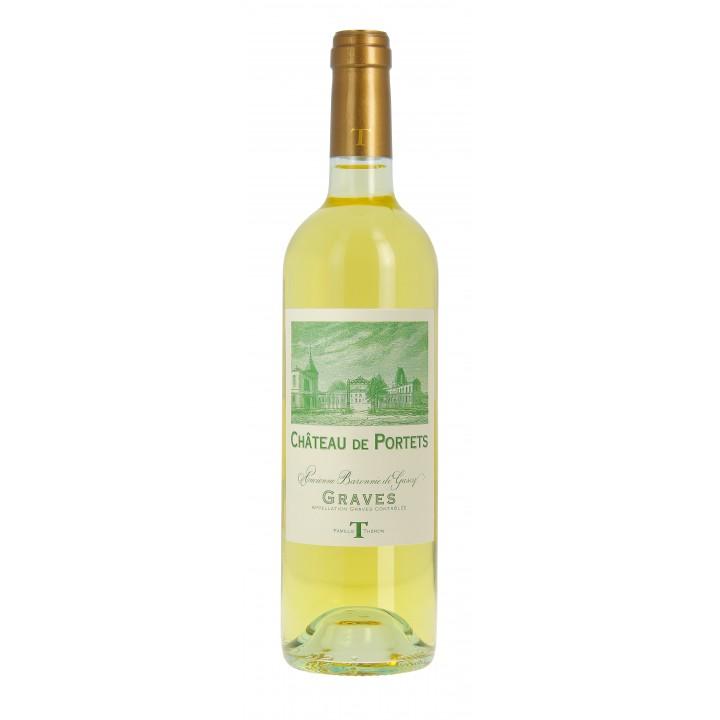 Вино Chateau de Portets біле сухе 0,75 л