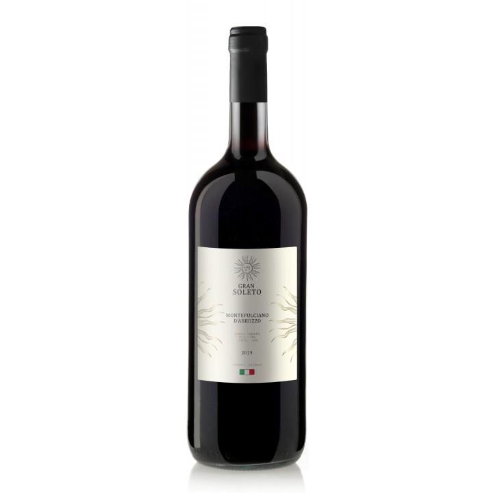 Вино Gran Soleto Montepulciano D'Abruzzo червоне сухе 1.5 л