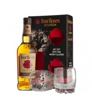 Bourbon Four Roses + 2 glasses, 700ml